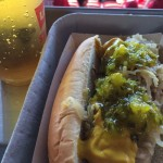 Levis Stadium Hot Dog with everything