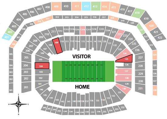 Levis stadium super bowl seating chart barrystickets com