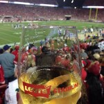 Glass of win at Levis Stadium