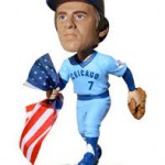 Rick Monday Bobblehead Flag