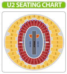 U2 Seating Chart Concert