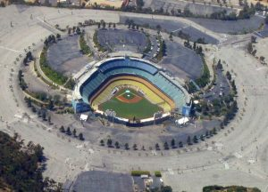 Dodger Stadium Chavez Ravine from the air