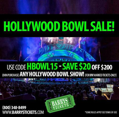 Hollywood Bowl Tickets Discount Code