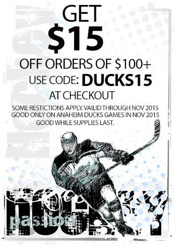 Anaheim Ducks November Discount Code