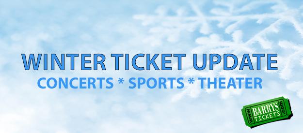 Barry's Tickets Anaheim Los Angeles Winter Ticket Update