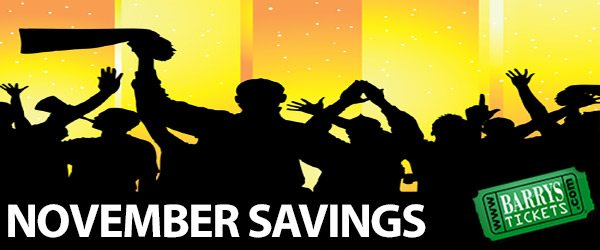 barrys tickets november savings