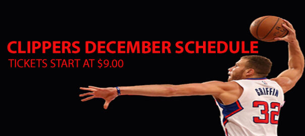 December Clippers Games Start at $9.00