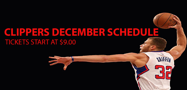 December Clippers Game Schedule