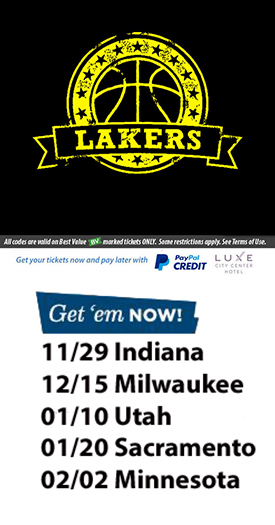 Laker Game Tickets Discount Code