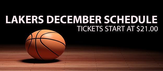 December Lakers Games schedule