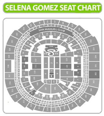 selena gomez seating chart