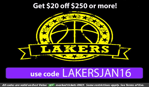 Lakers Tickets Promo Code