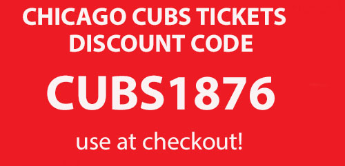 Chicago Cubs tickets discount code