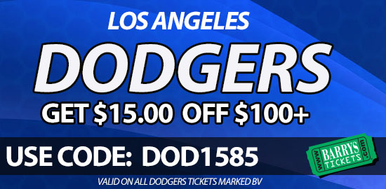 dodgers tickets discount code