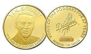 vin scully commemorative coin