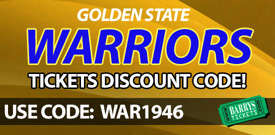 Golden State Warriors tickets discount code