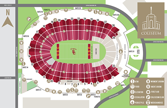 LA Coliseum USC seating Chart