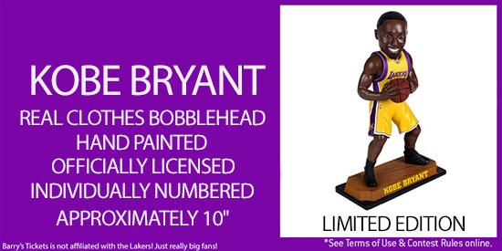 Win a Kobe Bryant Bobblehead