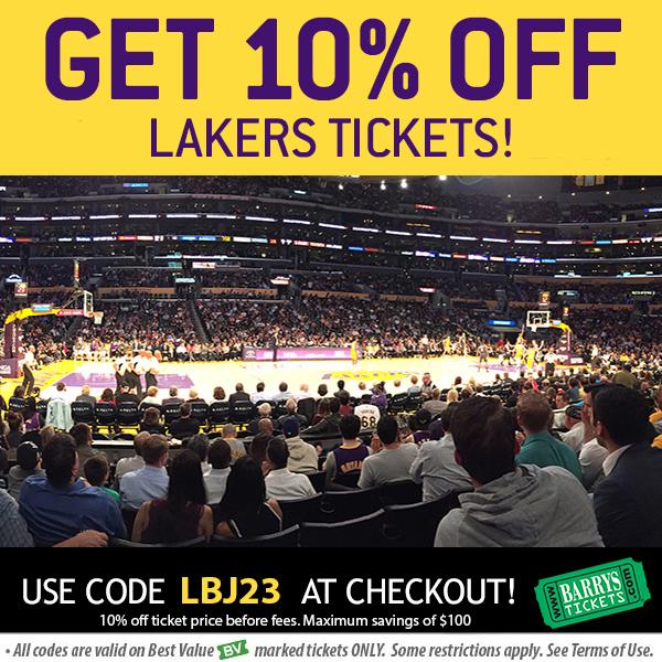 LA Lakers tickets Promo Code