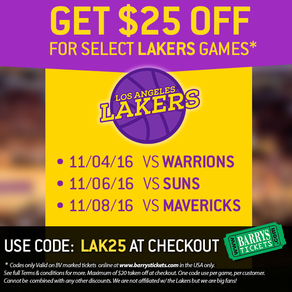 Lakers Tickets Discount Code