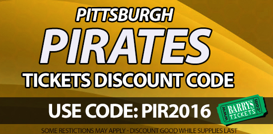 Pittsburgh Pirates Tickets Discount Code