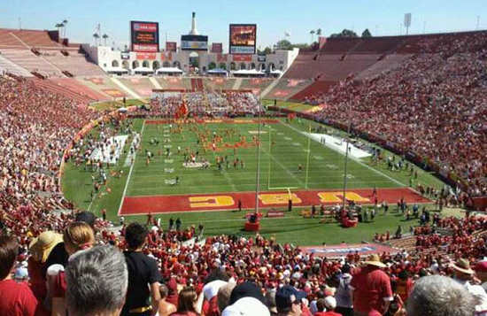la coliseum section 15 seat view
