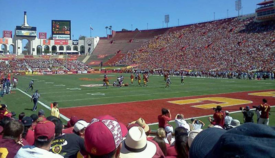 la coliseum section 17 seat view