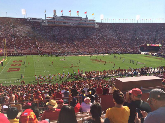 la coliseum section 24 seat view