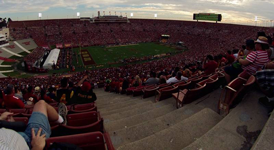 la coliseum seat view section 25