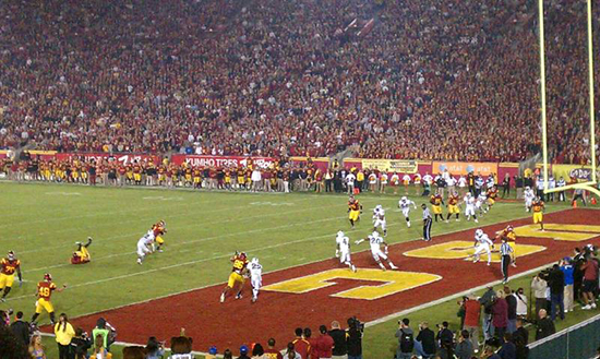 Section 3 view LA Coliseum