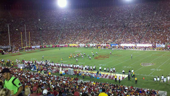 Section 5 seat view LA Coliseum