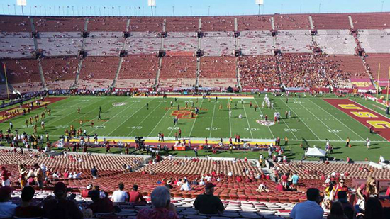 Section 6 LA Coliseum seat view