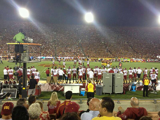 LA Coliseum section 7 view