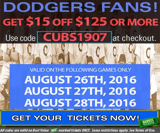 Dodger Tickets Promo Code