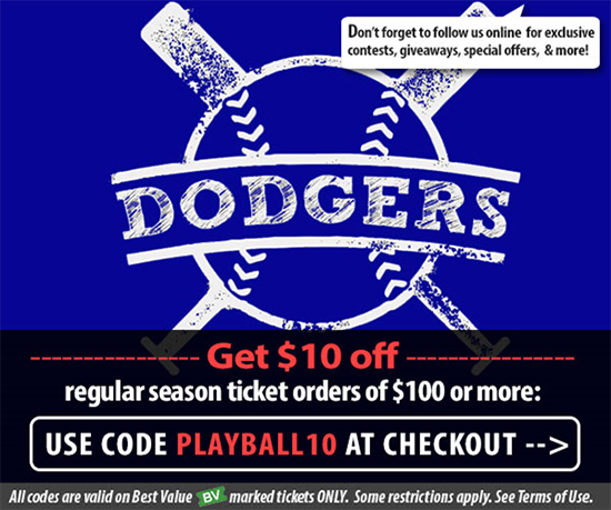 Los Angeles Dodgers Tickets Promo Code