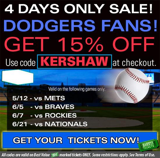 LA Dodgers Tickets Promo Code