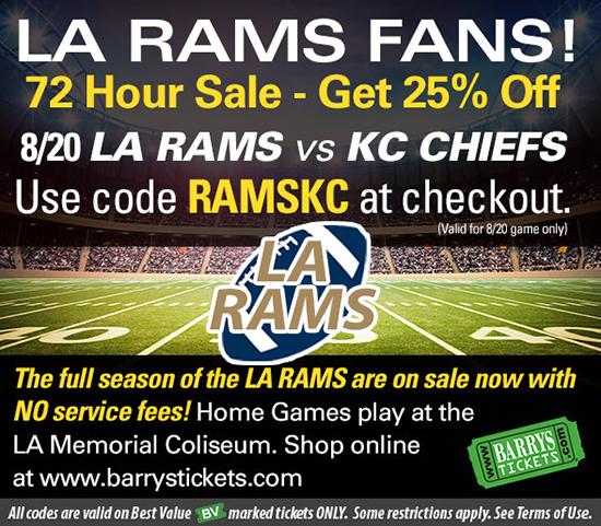 Los Angeles Rams tickets discount code