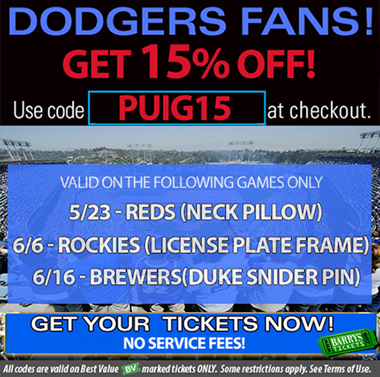 la dodger tickets promo code