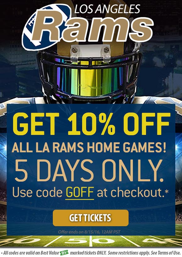 LA Rams Tickets Promo Code