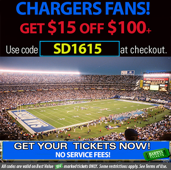 Chargers Tickets Discount Code