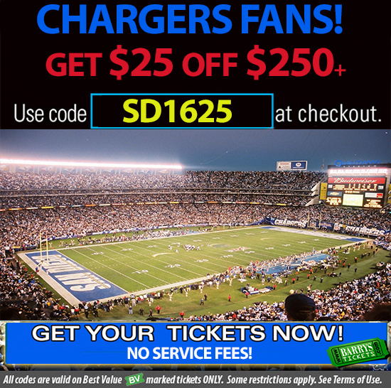 Chargers tickets promo code