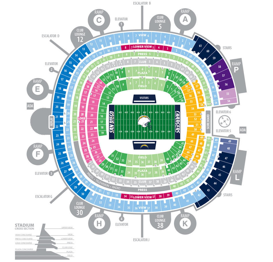 Chargers seating chart barrystickets com