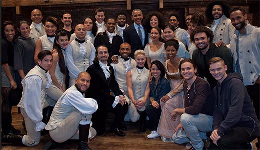 Obama Hamilton the Musical
