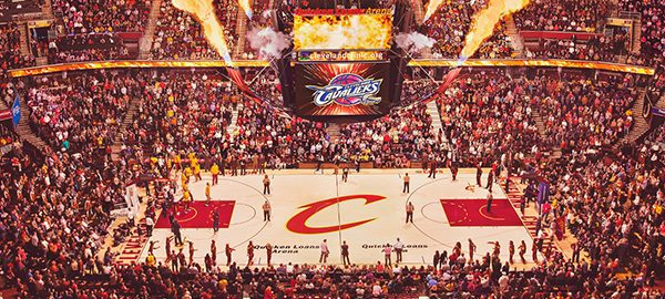 cleveland cavaliers basketball court