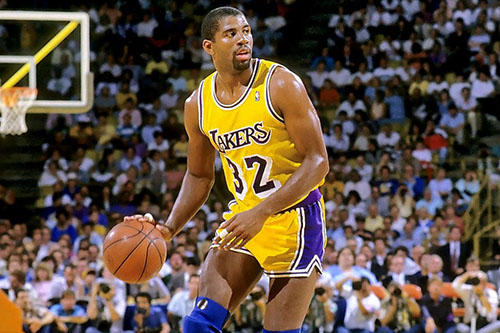 magic johnson los angeles lakers all-time roster