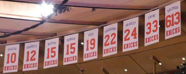 new york knicks retired jersey numbers