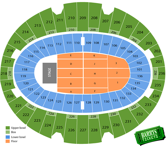 LA Forum Seating Chart Concert views