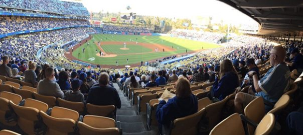 LA Dodgers game at Dodger Stadium