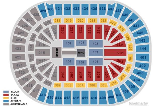 honda center wwe smackdown seating chart wrestling