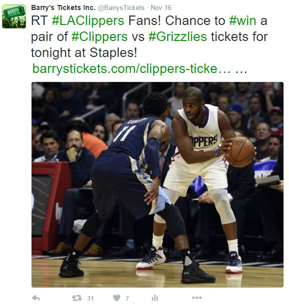 win free clippers tickets